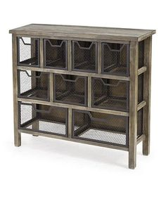 i just love the simple industrial look of the baskets for my side shelves on the island  #zulilyfinds
