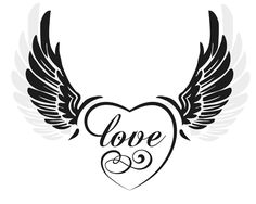 Find Black Wings Heart Sign Love Illustration stock images in HD and millions of other royalty-free stock photos, illustrations and vectors in the Shutterstock collection. Easy Tattoos To Draw, Angel Wings Drawing, Heart With Wings Tattoo, Valentines Day Drawing, Flower Drawing Tutorials, Alien Tattoo, Back Tattoo Women, Heart Tattoo Designs, Black Wings
