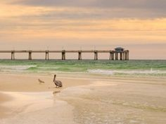 The beach in Mississippi has a long pier for fishing, sightseeing or even for romance.