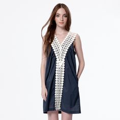 First Love Dress - Navy