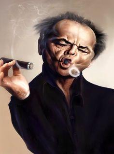 Caricature portraits by Tony Montaño, via Behance
