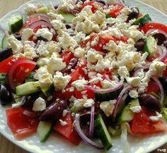 Bijgerecht: Griekse salade Feta, Samos, 14 November, Healthy, Ethnic Recipes, Tips, Salads, Health, Counseling