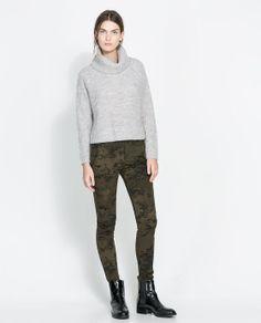 Image 1 de PANTALON SKINNY CAMOUFLAGE de Zara