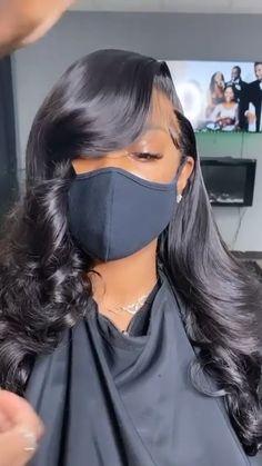 Easy Black Girl Hairstyles, Braids Hairstyles Pictures, African Braids Hairstyles, Baddie Hairstyles, Ponytail Hairstyles, Trendy Hairstyles, Weave Hairstyles, Hair Ponytail Styles, Curly Hair Styles