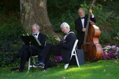Magnolia Jazz Band, wedding reception in Healdsburg, CA.  Click http://MagnoliaJazz.com/blog to see helpful tips for planning wedding or party music in a setting like this.
