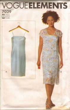 Vogue Elements 7029. Dress with overdress.