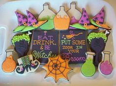 Halloween cookies: cauldrons, potions, and witch hats