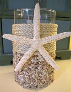 Natural Seashell Coastal Candleholder - Large Beach Decor | Nautical Decor | Tropical Decor | Coastal Decor