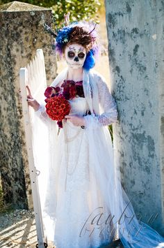 """""""Day of the Dead"""" shoot  Make up and Photography: Aubrey Brower"""
