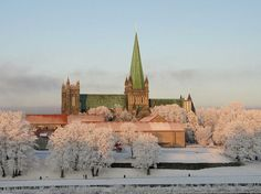 Trondheim Norway in Snow