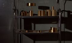 The shade is spun into shape from a piece of brass or steel. The brass parts are solid, brushed and lacquered. Table Lamp, Shelves, Steel, Furniture, Brass, Autumn, Home Decor, News, Table Lamps