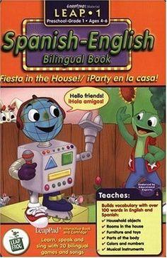 LeapPad SPANISH-ENGLISH BILINGUAL FIESTA IN THE HOUSE BOOK & CARTRIDGE UNOPENED #LeapFrog