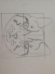 Dit is de eerste schets die ik heb nagemaakt met hulp van de tutorial
