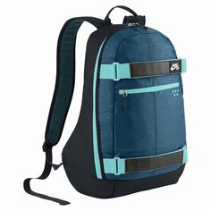 NIKE SB EMBARCA MEDIUM RUCKSACK DARK OBSIDIAN TEAL WHITE  #nike #nikesb #shopping #nikeskateboarding #streetstyle #shopping #fourseasonsshop