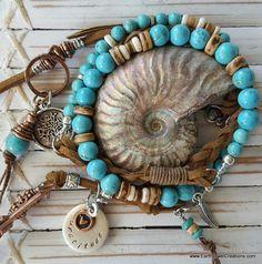 Inspirational gemstone vegan suede wraps- wear as necklace or wrist wrap. Handmade with love in Noosa, Australia.
