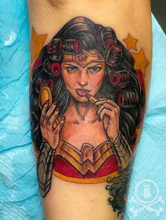 Beautiful Wonder Woman tattoo done by Meghan Patrick. #12ozstudios #team12oz #tattoo #tattoos #tattooed #tattooing #tattooism #tattooart #tattooartist #tattooer #tattooist #art #artstudio #tattooshop #tattoostudio #ink #inked #colortattoo #colortattoos #WonderWoman #WonderWomantattoo #superhero #superheros #comics #comicbooks #superherotattoo #superherotattoos Meghan Patrick, Super Hero Tattoos, Custom Tattoo, Tattoo Shop, Color Tattoo, Tattoo Studio, Cool Artwork, Tattoos For Women, Tattoo Artists