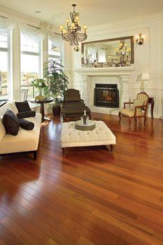 Brazilian Cherry Hardwood Flooring - lovely. Too bad it changes color in light.