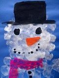 Artsonia Art Exhibit :: Marshmallow-Painted Snowman Portrait