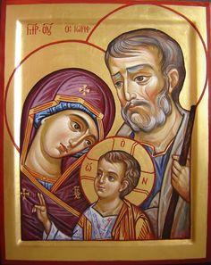Holy Family by Anastasija Šopagienė Christian Images, Christian Art, Catholic Art, Catholic Saints, Religious Icons, Religious Art, Religion, Russian Icons, Byzantine Icons