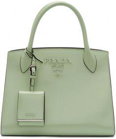 521c686bad Prada - Green Small Tonal Logo Paradigm Tote  Pradahandbags Purses And  Handbags