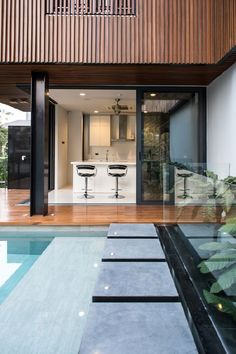 Eye-Catching Louver Panels Defining Massive Joly House in Bangkok, Thailand - http://freshome.com/eye-catching-louver-panels-defining-massive-joly-house-thailand/