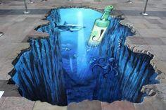 Nice sidewalk art!