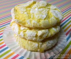 Lemon Cookies (could be made with strawberry mix)