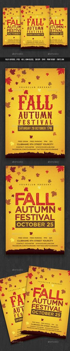 Autumn Fall Flyer  Facebook Cover  Autumn Fall Font Logo And Fonts