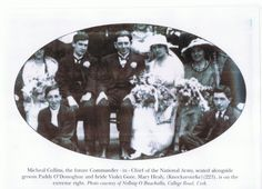 Michael Collins at the wedding of Paddy O'Donogue, 1919 Anglo Irish Treaty, Ireland 1916, Cork City, Memorial Cards, Michael Collins, Some Pictures, Kitty, History, Prints