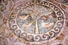 Mosaics in Amasya reveal apple symbol. The mosaic was found at Amasya's Yavru Village, has a symbol of an apple [Credit: AA] The mosaic was found at Amasya's Yavru Village, the Culture and Tourism Ministry announced. It was subsequently analyzed by Hittite University Black Sea Archaeology research manager Esra Keskin, and the mosaic is believed to belong to the early Christian era.