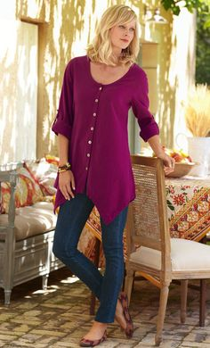 GAUZE TUNIC  I love this, even the color. gale