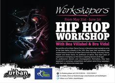 Time to dance!    A Hip Hop workshop like no other, by Workshopers, bringing you Bea Villabol & Bru Vidal from Spain.