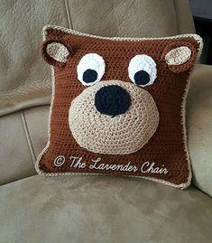 Teddy Bear Pillow Crochet Pattern PDF FILE ONLY Instant