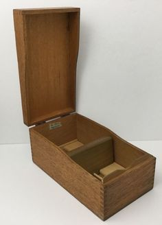 Antique Vintage Globe Wernicke 7310C Wood Dovetail File Card Box Made In The USA #GlobeWernicke