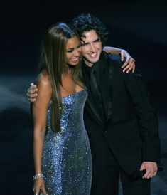 Beyonce Knowles & Josh Groban at the 77th Annual Academy Awards