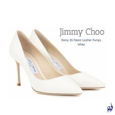 Jimmy Choo | Romy 85 Patent Leather Pumps | White #design #shoes #jimmychoo #leather #pumps #fashion #woman #heels #pump #style #affiliatelink #shopstyle #shopthelook