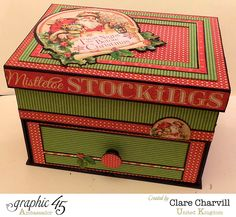 Altered Box Twas the Night Before Christmas Graphic 45 Clare Charvill 1