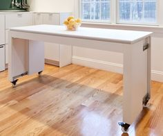 15 Narrow Dining Tables for Small Spaces (Gallery Ideas) Narrow Dining Tables, Kitchen Island Dining Table, Mobile Kitchen Island, Portable Kitchen Island, Rolling Kitchen Island, Kitchen Island On Wheels, Kitchen Table Makeover, Kitchen Island Decor, Modern Kitchen Island