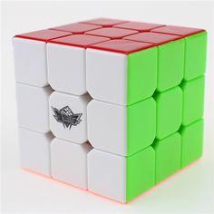 3x3x3 Velocidad Ciclón Niños Cubo Mágico Puzzle Cubos Cubo Cuadrado Rompecabezas No Arco Iris Etiqueta Engomada Regalos Educativos juguetes para Los Niños