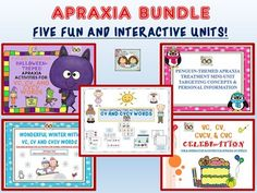Verbal Apraxia Bundle: Fun & Interactive Activities For Treating Verbal Apraxia from Shanda from Shanda on TeachersNotebook.com (405 pages) - Hello and thank you for stopping by Twin Speech, Language & Literacy LLC TN store today. We are so glad that you came by to read about our awesome apraxia therapy document bundle!