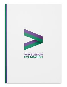 """Hat-trick's new identity for the Wimbledon Foundation uses the """"greater-than"""" mathematical symbol to position the organisation as a force for good. Brand Identity Design, Branding Design, Logo Design, Graphic Design, Corporate Branding, Logo Branding, Logos, Minimalistic Logo, Foundation Logo"""