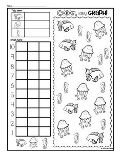 Free Under The Sea Graphing Worksheet. Fun spring or
