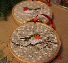 Вышивка, новогодний декор, новогодние украшения, ёлочные украшения