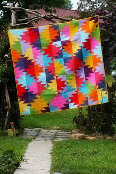 Old Red Barn Co.: Delectable Mountains quilt in solids