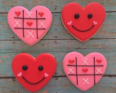 Valentine Hearts by SweetCBakeShop on Etsy https://www.etsy.com/listing/262704109/valentine-hearts