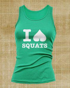 Love Squats Women's Tank Top White Print Crossfit by JermieScott
