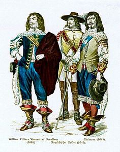 Duke of	William Villiers Viscount of Grandison (1640),	Royalist Soldier (1649), Nobleman (1649)