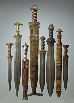 different Cameroon knifes-swords 2.jpg - African sword and knife - African Weapons