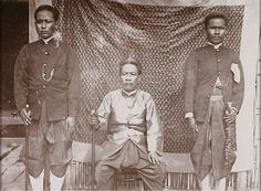 "1885 Bangkok ""Tax Commissioner"" and aids..."