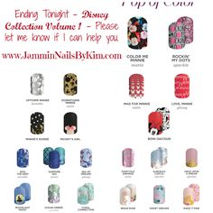 These are #retiring tonight - please let me know if I can help you grab them before they're gone. #Disney Collection Volume I  #Jamberry #JamberryNails #NailWraps #ManiPedi #Jamicure #Jambicure #Manicure #Pedicure #PrettyNails #NailSwag #JamminNailsByKim #NailArt #NOTD #NailArtAddict #NailLove #LoveNails #DisneyCollectionByJamberry #JamSocial